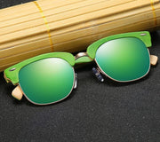 Half Frame Wooden Polarized Sunglasses - DERNIER CRI