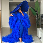 Royal Blue Extra Puffy Tulle Dress