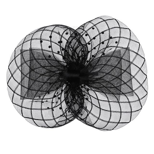 Black Caviar Mesh Topper Fascinator - DERNIER CRI