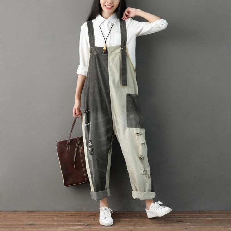 City Girl Large size Denim Jumpsuit - DERNIER CRI
