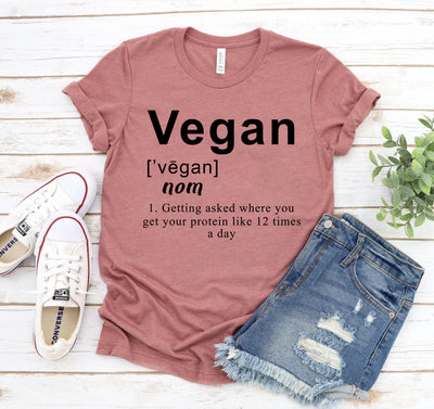 Vegan Definition T-shirt - DERNIER CRI
