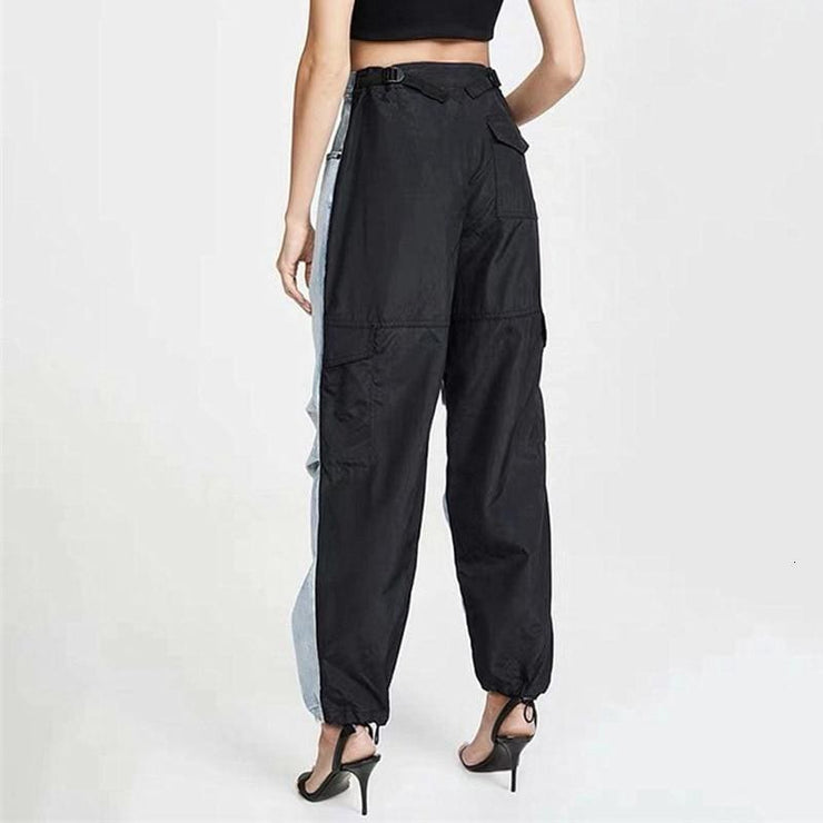 Devi Two Tone High Waist Jeans - DERNIER CRI