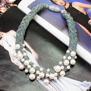 Emery Thick Rope Statement Necklace - DERNIER CRI
