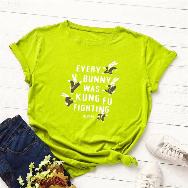 Every Bunny was Kung Fu Fighting T-shirt - DERNIER CRI