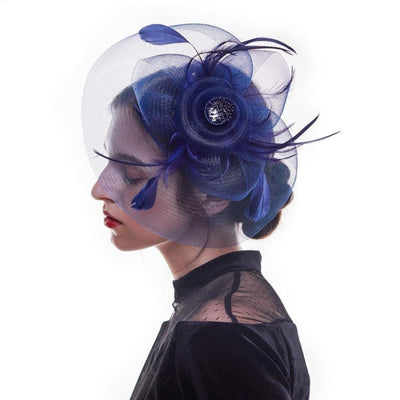Grace Mesh & Flower Fascinator - DERNIER CRI