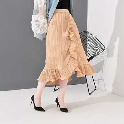 Harper Asymmetrical Pleated Skirt - DERNIER CRI