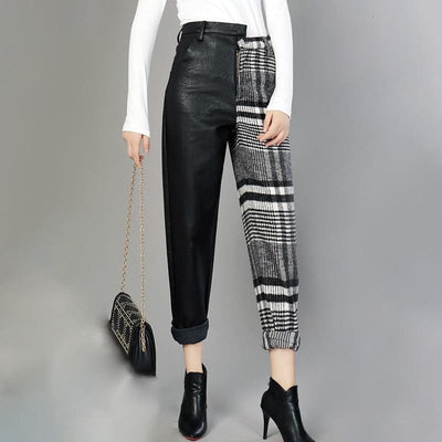 High Waist Asymmetrical Pants - DERNIER CRI