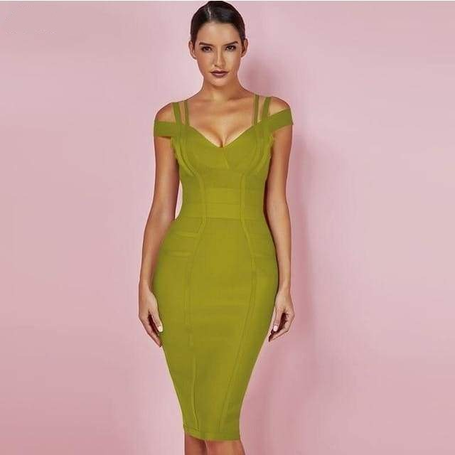 Indie Off Shoulder Bandage Dress - DERNIER CRI