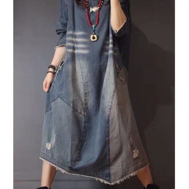 Loose Maxi Denim Dress - DERNIER CRI