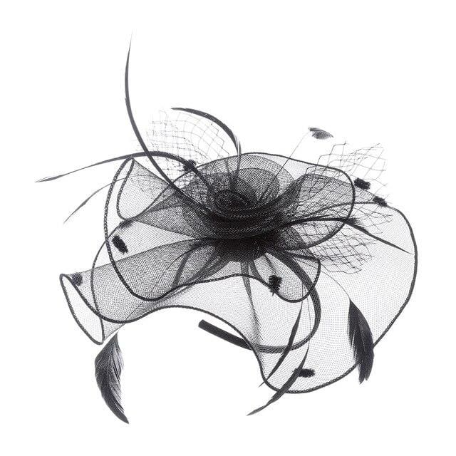 Mabel Mesh & Feather Fascinator - DERNIER CRI
