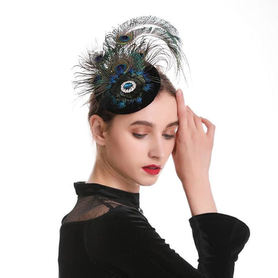 Makybe Diva Peacock Feather Fascinator - DERNIER CRI