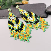 Samburu Beaded Long Tassel Earrings - DERNIER CRI