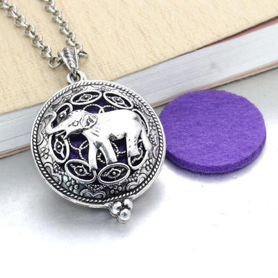 Aroma Diffuser Pendant Necklace With Pads, Elephant - DERNIER CRI