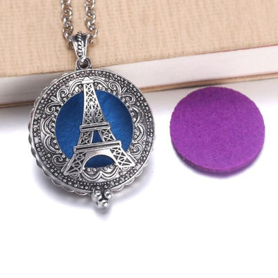 Aroma Diffuser Pendant Necklace With Pads, Eiffel Tower - DERNIER CRI