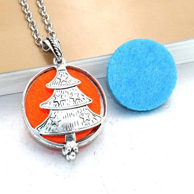Aroma Diffuser Pendant Necklace With Pads, Christmas Tree - DERNIER CRI