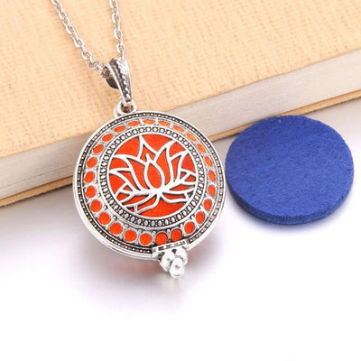 Aroma Diffuser Pendant Necklace With Pads, Metal color - N2265 - DERNIER CRI
