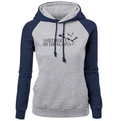 Mother Of Dragons Hoodie 2- Navy & Gray - DERNIER CRI