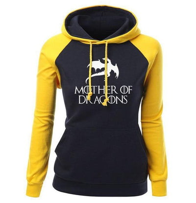 Mother Of Dragons Hoodie- Yellow & Black - DERNIER CRI