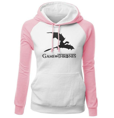 Game of Thrones Hoodie- Pink & White - DERNIER CRI