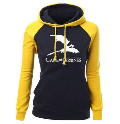 Game of Thrones Hoodie- Yellow & Black - DERNIER CRI