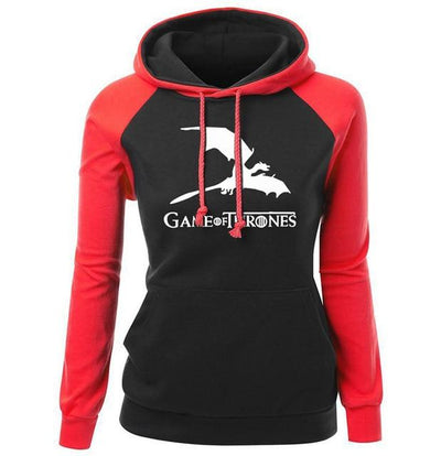 Game of Thrones Hoodie - Red & Black - DERNIER CRI