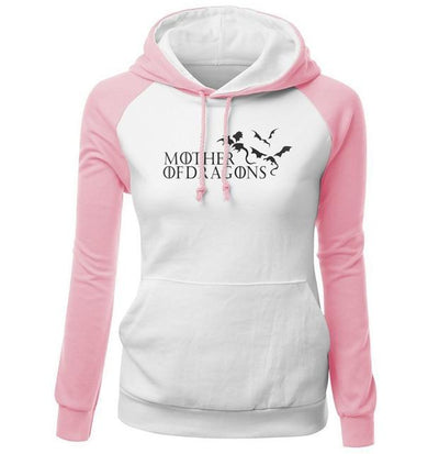 Mother Of Dragons Hoodie 2- Pink & White - DERNIER CRI