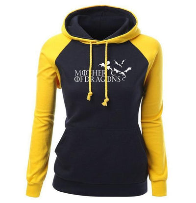 Mother Of Dragons Hoodie 2- Yellow & Black - DERNIER CRI