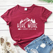 Hike More Worry Less T-Shirt - DERNIER CRI