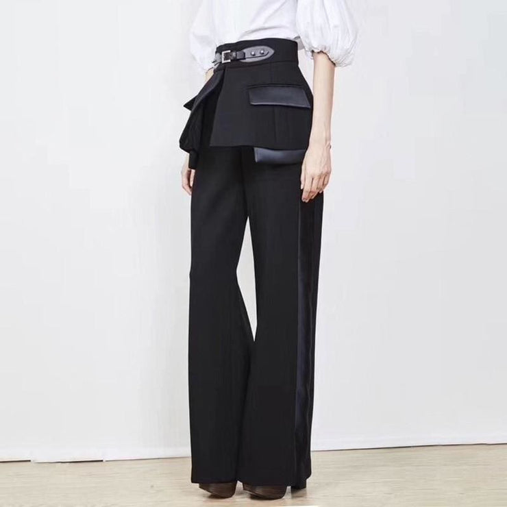 Wide Leg Pants With Belt - DERNIER CRI