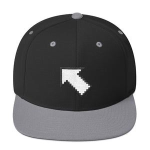 Mouse Click Cursor Arrow Symbol Snapback Hat