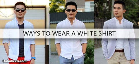 ways to wear a white shirt