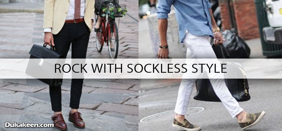 rock with sockless style