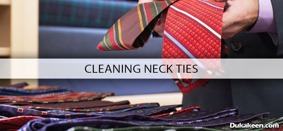 cleaning neck ties