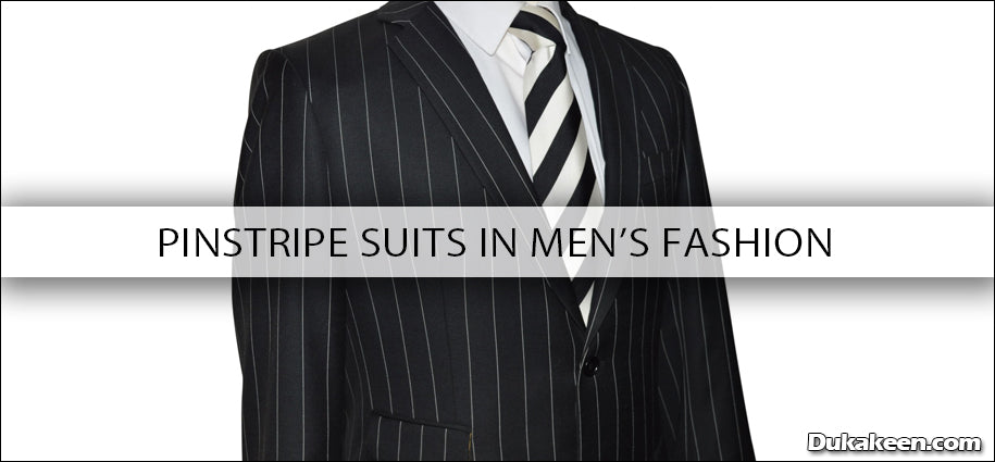 pinstripe suits in mens fasion