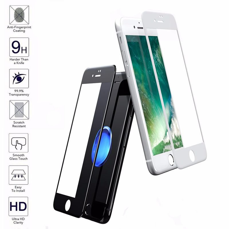 0.3mm Thickness 9H 2.5D Rounded Edge Explosion Proof Tempered Glass Screen Protector For iPhone 7