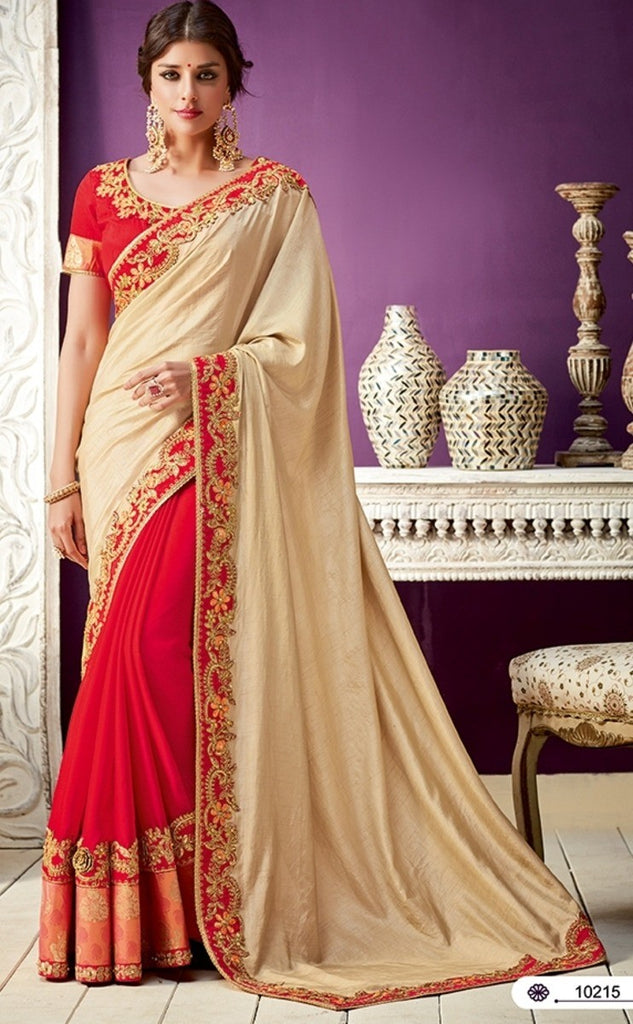 Silk, Georgette Saree With Blouse
