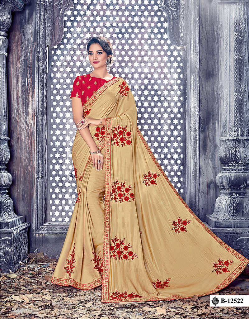 Silk Designer Saree With Blouse