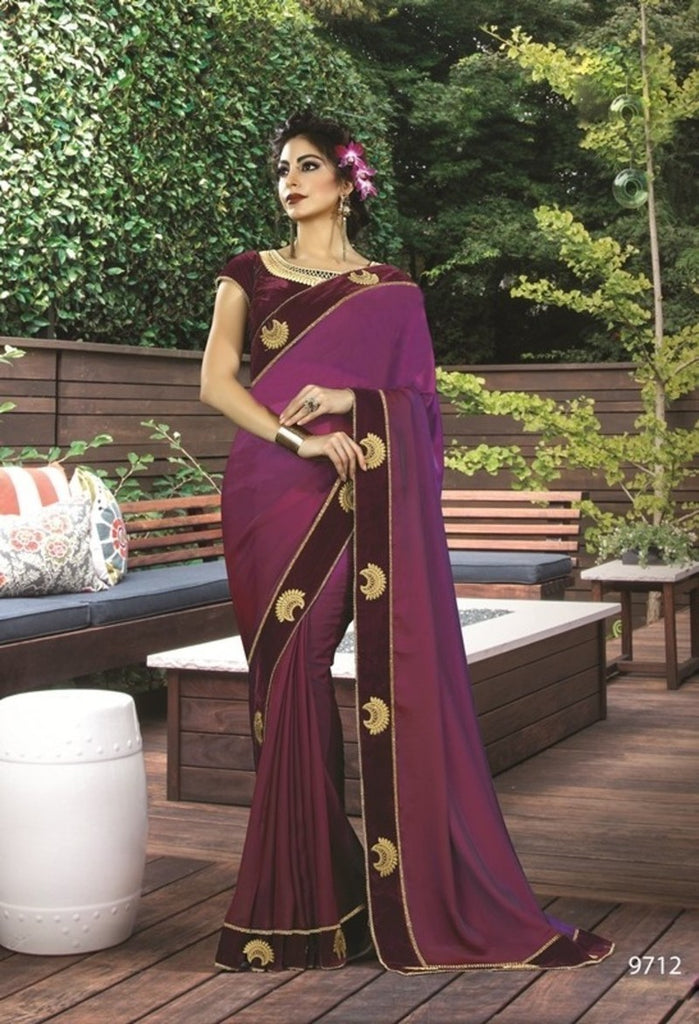 Silk Embroidery Saree With Blouse