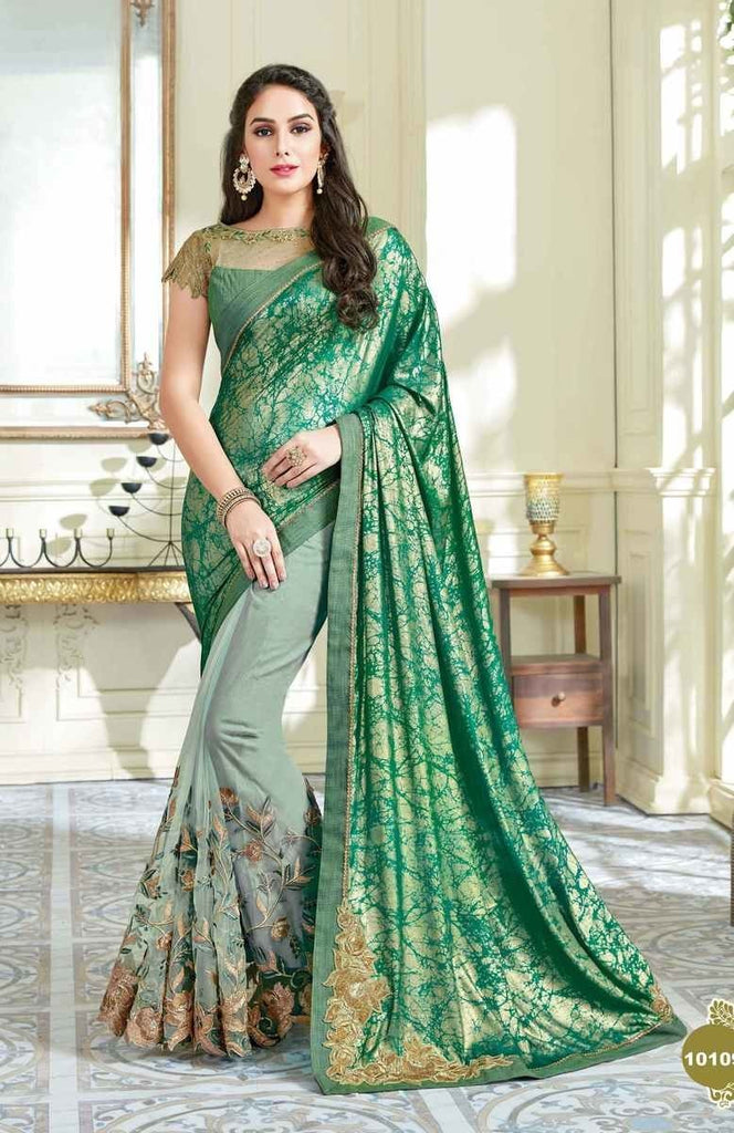 Net Lycra Traditional Saree With Blouse