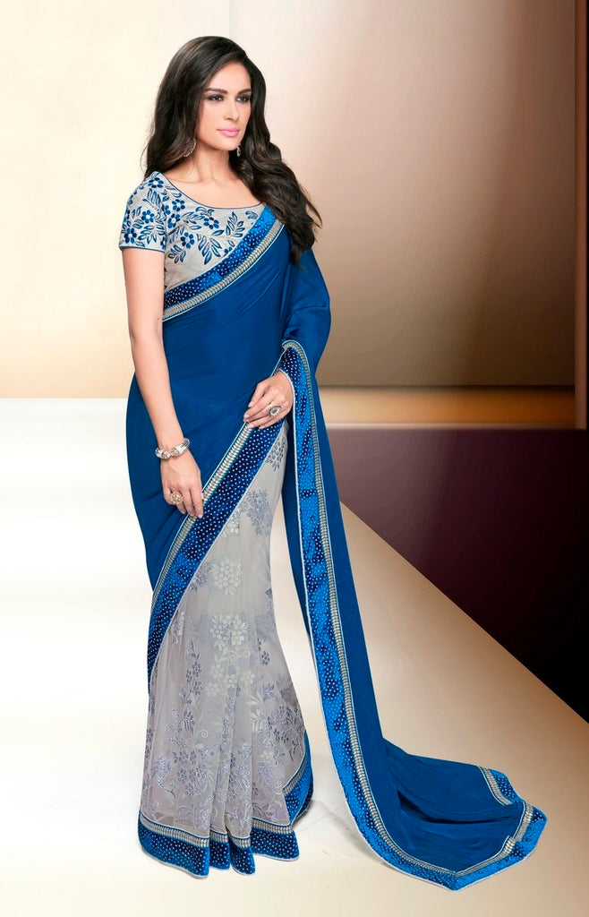Maryam - Georgette Embroidery Saree With Blouse