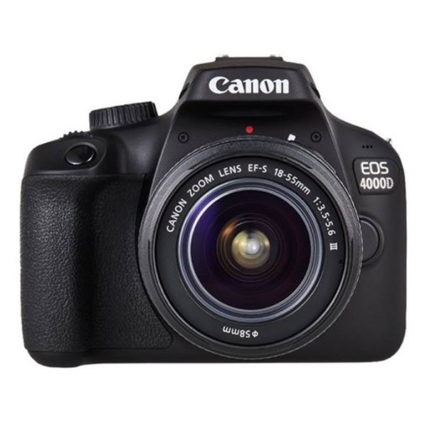Canon EOS 4000D DSLR Camera Body Black With EF-S 18-55mm III Lens Kit