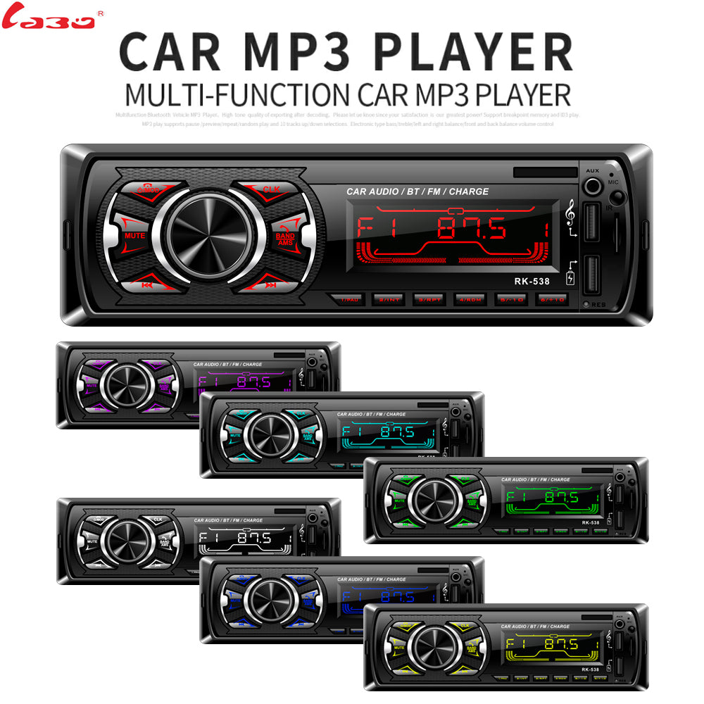 1 Din Bluetooth Car Radio MP3 Player Car Audio Stereo Bluetooth Stereo  Radio 12V FM AUX Handsfree Calling SWC-Romote Autoradio