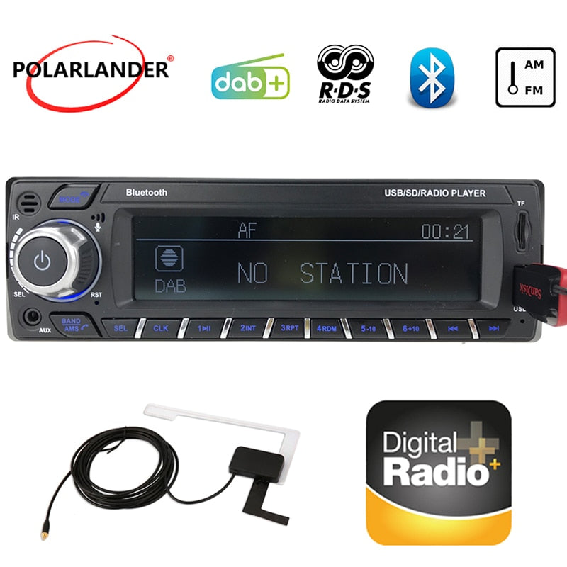 1 Din Car Radio MP3/WMA DAB+ LCD Screen 2018 New Car Bluetooth Card Machine RDS Digital Audio Broadcast Hands-Free FM USB SD