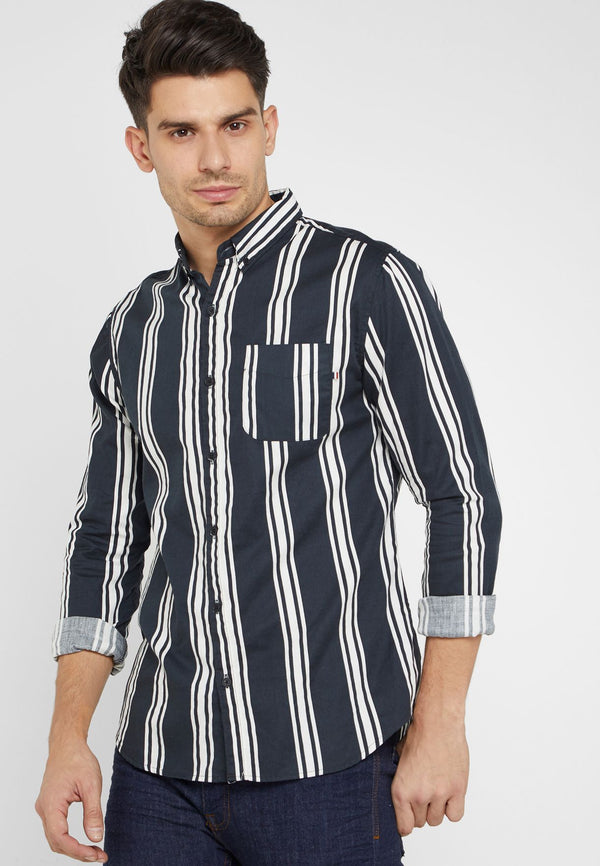 COTTON ON  Brunswick Striped Shirt