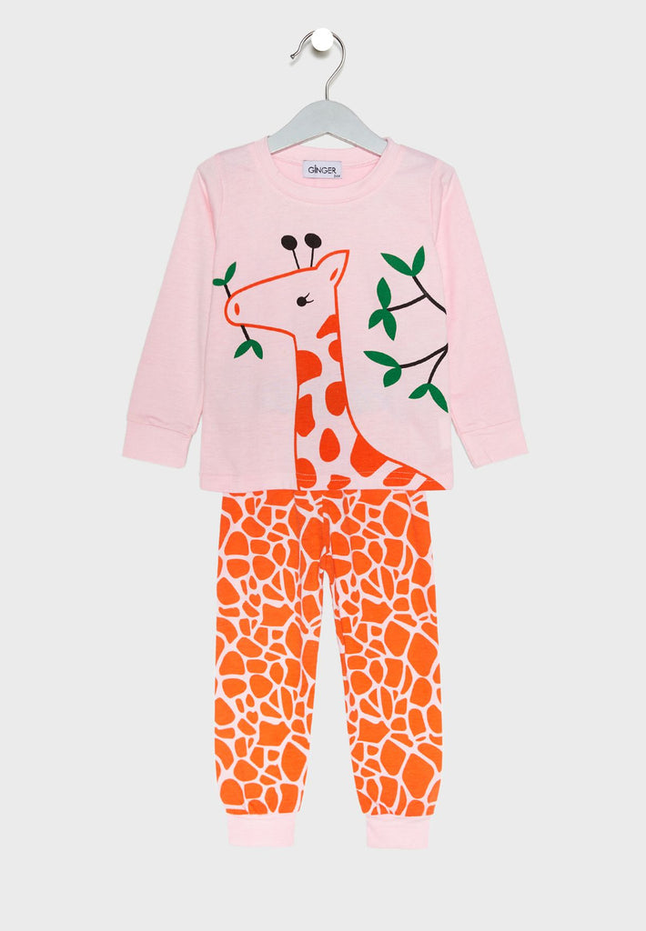 LOUNGE DISTRICT  Giraffe Print Pyjama Set
