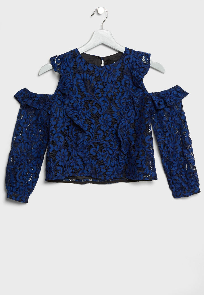 BARDOT JUNIOR Teen Lace Detail Top