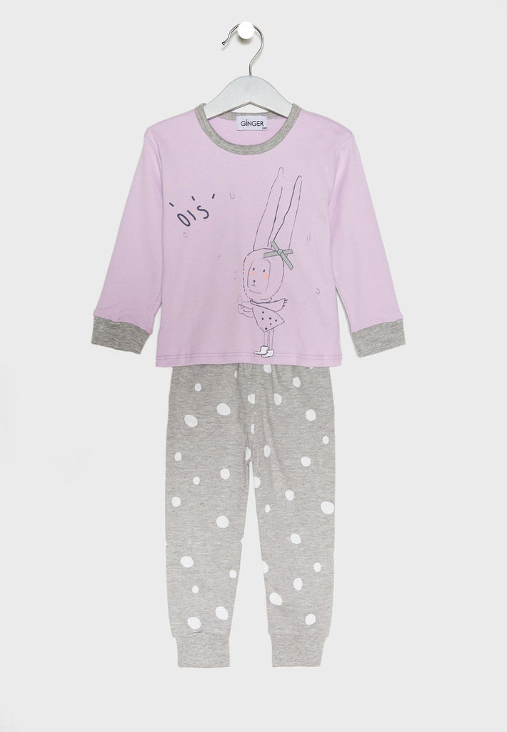LOUNGE DISTRICT  Bunny Print Pyjama Set