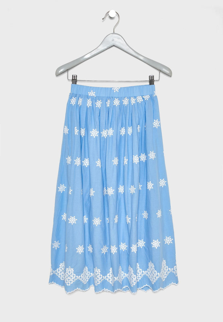 ICONIC Kids Embroidered Skirt