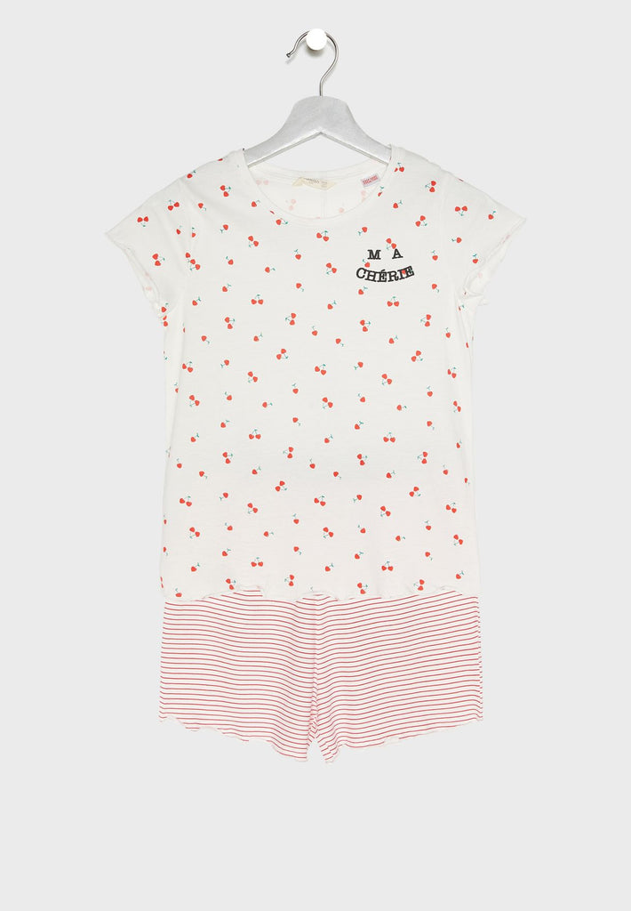 MANGO  Kids Cherry Print Pyjama Set
