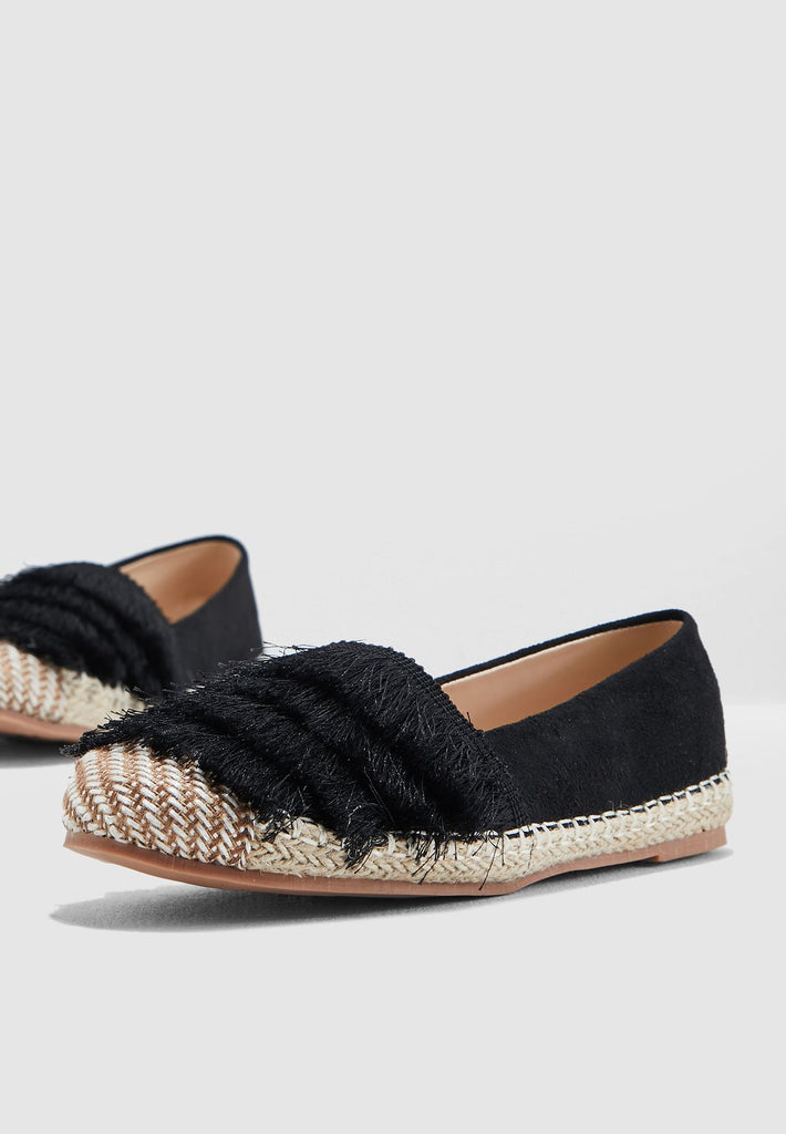Espadrilles With Fringing Detail
